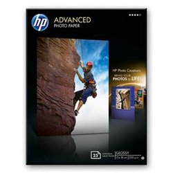 Q8696A - HP Advanced Photo Paper, Glossy, 13 x 18cm, 250g/m2 - 25 listů
