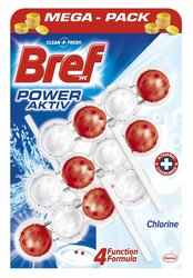 WC BREF Power Aktiv blok 3x50 g Chlorine