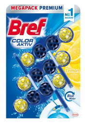 Bref Color Aktiv WC blok Lemon 3 x 50 g