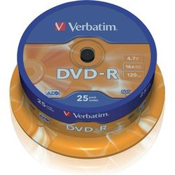 DVD-R 4,7GB 16x 25SP VERBATIM