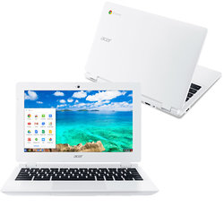 "Ntb Acer Chromebook 11 (CB3-131-C4SZ) Celeron N2840, 2GB, 32GB, 11.6"", HD, bez mechaniky, Intel HD, BT, CAM, Chrome OS  - bílý"