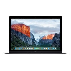 "Ntb Apple Macbook  - space gray m3- 6Y30, 8GB, 256GB, 12"", 2304x1440, bez mechaniky, Intel HD 515, BT, CAM, OS X"