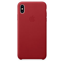 Kryt na mobil Apple Leather Case pro iPhone Xs Max - (PRODUCT)RED - červený