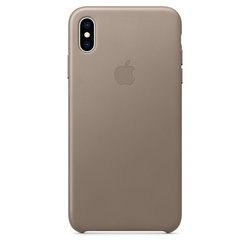 Kryt na mobil Apple Leather Case pro iPhone Xs Max - kouřový