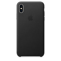 Kryt na mobil Apple Leather Case pro iPhone Xs Max - černý