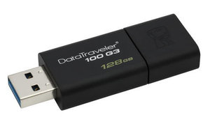 Flash USB Kingston DataTraveler 100 G3 128GB USB 3.0 - černý