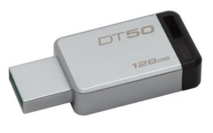 Flash USB Kingston DataTraveler 50 128GB USB 3.0 - černý/kovový
