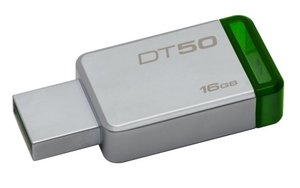 Flash USB Kingston DataTraveler 50 16GB USB 3.0 - zelený/kovový