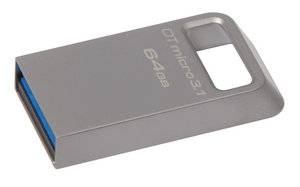 Flash USB Kingston DataTraveler Micro 3.1 64GB USB 3.0 - kovový