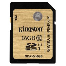 Paměťová karta Kingston SDHC 16GB UHS-I U1 (90R/45W)
