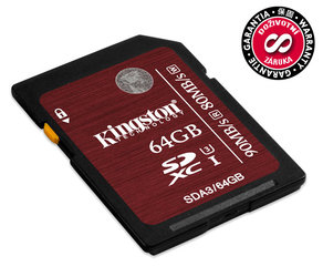 Paměťová karta Kingston SDXC 64GB UHS-I U3 (90R/80W)