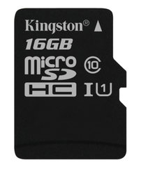 Paměťová karta Kingston MicroSDHC 16GB UHS-I U1 (45R/10W)
