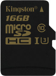 Paměťová karta Kingston MicroSDHC 16GB UHS-I U3 (90R/45W)