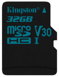Paměťová karta Kingston Canvas Go! MicroSDHC 32GB UHS-I U3 (90R/45W)