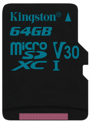 Paměťová karta Kingston Canvas Go! MicroSDXC 64GB UHS-I U3 (90R/45W)