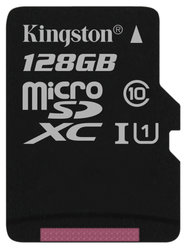 Paměťová karta Kingston Canvas Select MicroSDXC 128GB UHS-I U1 (80R/10W)