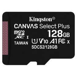 Paměťová karta Kingston Canvas Select Plus MicroSDXC 128GB UHS-I U1 (100R/10W)