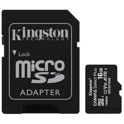 Paměťová karta Kingston Canvas Select Plus MicroSDHC 16GB UHS-I U1 (100R/10W) + adapter