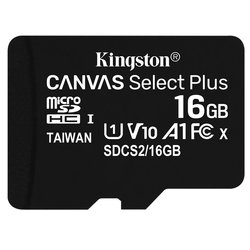 Paměťová karta Kingston Canvas Select Plus MicroSDHC 16GB UHS-I U1 (100R/10W)
