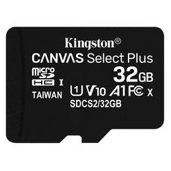 Paměťová karta Kingston Canvas Select Plus MicroSDHC 32GB UHS-I U1 (100R/10W)