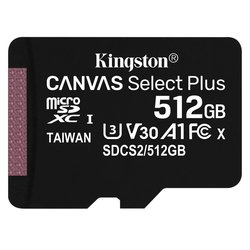 Paměťová karta Kingston Canvas Select Plus MicroSDXC 512GB UHS-I U1 (100R/85W)