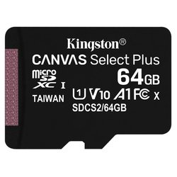 Paměťová karta Kingston Canvas Select Plus MicroSDXC 64GB UHS-I U1 (100R/10W)
