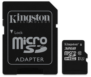 Paměťová karta Kingston Canvas Select MicroSDHC 32GB UHS-I U1 (80R/10W) + adapter
