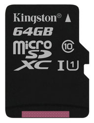 Paměťová karta Kingston Canvas Select MicroSDXC 64GB UHS-I U1 (80R/10W)
