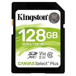 Paměťová karta Kingston Canvas Select Plus SDXC 128GB UHS-I U1 (100R/85W)