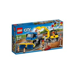 Stavebnice LEGO® CITY GREAT VEHICLES 60152 Zametací vůz a bagr