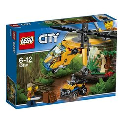 Stavebnice LEGO® CITY JUNGLE EXPLORERS 60158 Nákladní helikoptéra do džungle