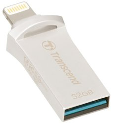 Flash USB Transcend JetDrive Go 500 32GB USB 3.1 - stříbrný