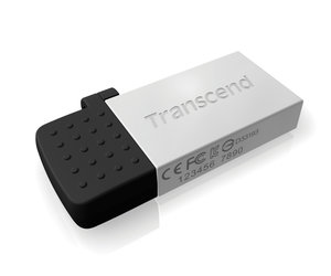 Flash USB Transcend JetFlash 380S 32GB USB 2.0 - stříbrný