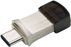 Flash USB Transcend JetFlash 890 64GB USB 3.1 - stříbrná