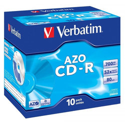 Disk Verbatim CD-R 700MB/80min, 52x, Crystal, jewel box, 10ks