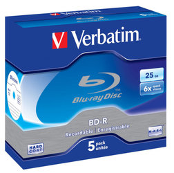 Disk Verbatim BD-R SL 25GB, 6x, jewel box, 5ks