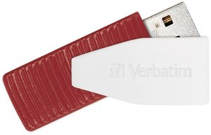 Flash USB Verbatim Store 'n' Go Swivel 16GB USB 2.0 - červený
