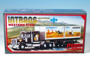 Stavebnice Monti 25 Intrans Container Western star 1:48 v krabici 31,5x16,5x7,5c